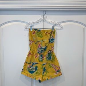 Urban Outfitters Yellow Sailboat Romper
